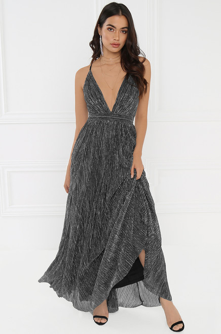 Champagne Toast  Dress - Black