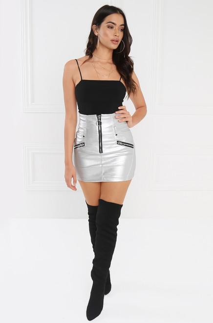 Moon Dust Skirt - Silver