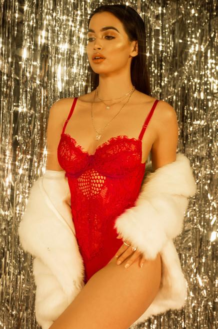Risqué Bodysuit - Red