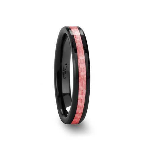 Violet Black Ceramic Band with Pink Carbon Fiber Inlay at Rotunda Jewelers