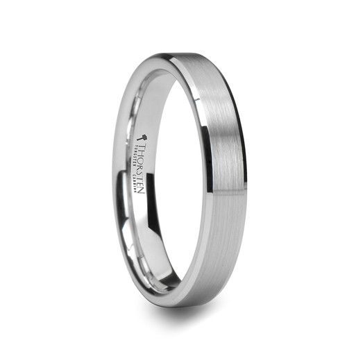 Goodding White Tungsten Carbide Band with Brushed Center at Rotunda Jewelers