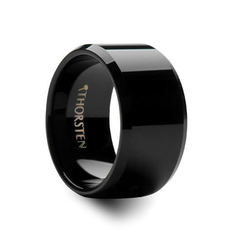 Beaked Black Tungsten Carbide Ring at Rotunda Jewelers