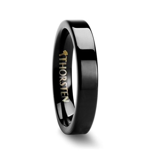 Cabbage Black Pipe Cut Tungsten Carbide Ring at Rotunda Jewelers