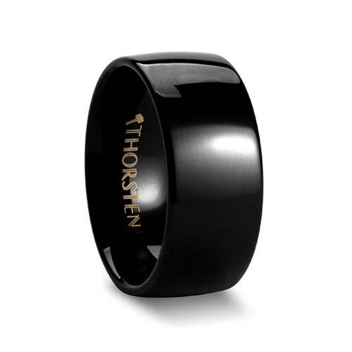 Corydalis Rounded Black Tungsten Carbide Ring at Rotunda Jewelers