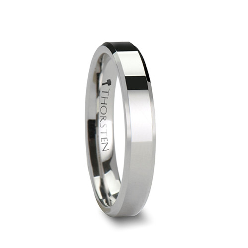 Aniarsexe White Tungsten Carbide Band with at Rotunda Jewelers