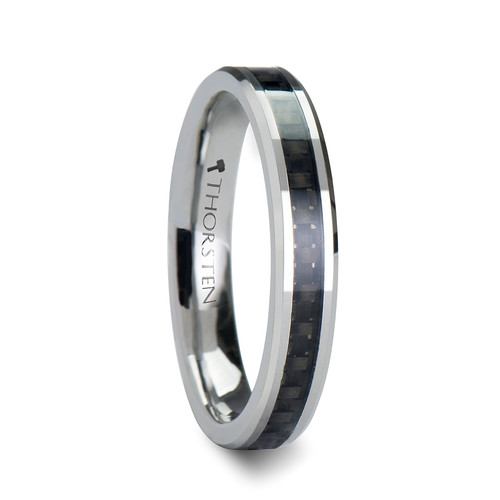 Gromwell Tungsten Carbide Band with Black Carbon Fiber Inlay at Rotunda Jewelers