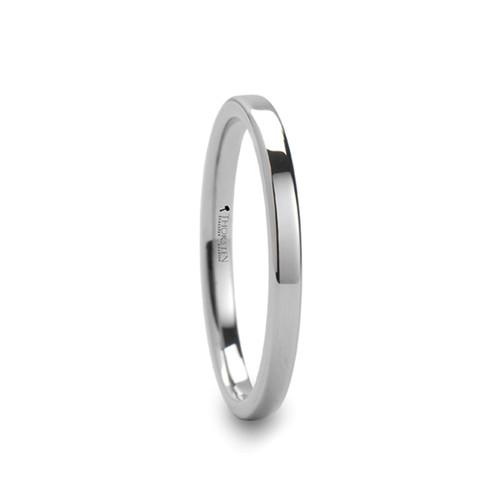 Coneflower Pipe Cut Style White Tungsten Carbide Ring at Rotunda Jewelers