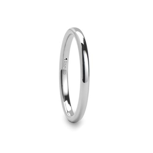 Bittercress Round White Tungsten Carbide Ring at Rotunda Jewelers