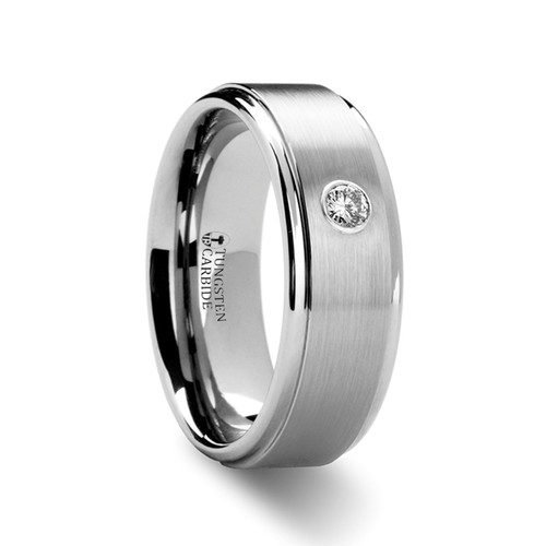 Archangel Tungsten Carbide Band with Diamond at Rotunda Jewelers
