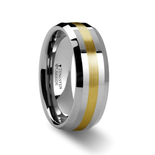 Kura Gold Inlay Tungsten Ring at Rotunda Jewelers