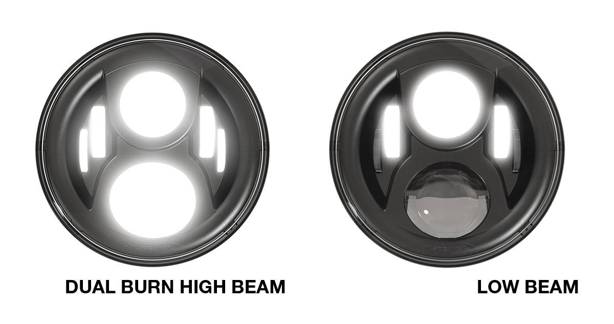 JW Speaker 8700 Evo 2 Dual Burn LED Headlight