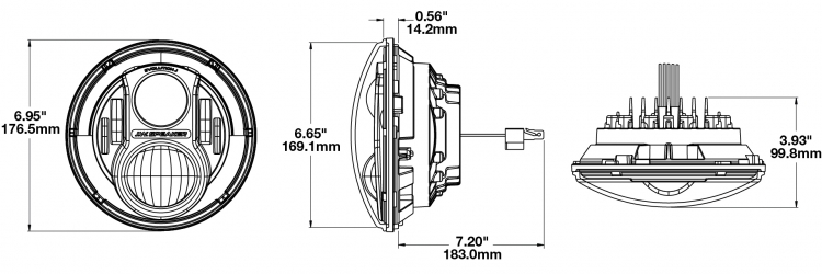 JW Speaker 8700 Evo J2 Size
