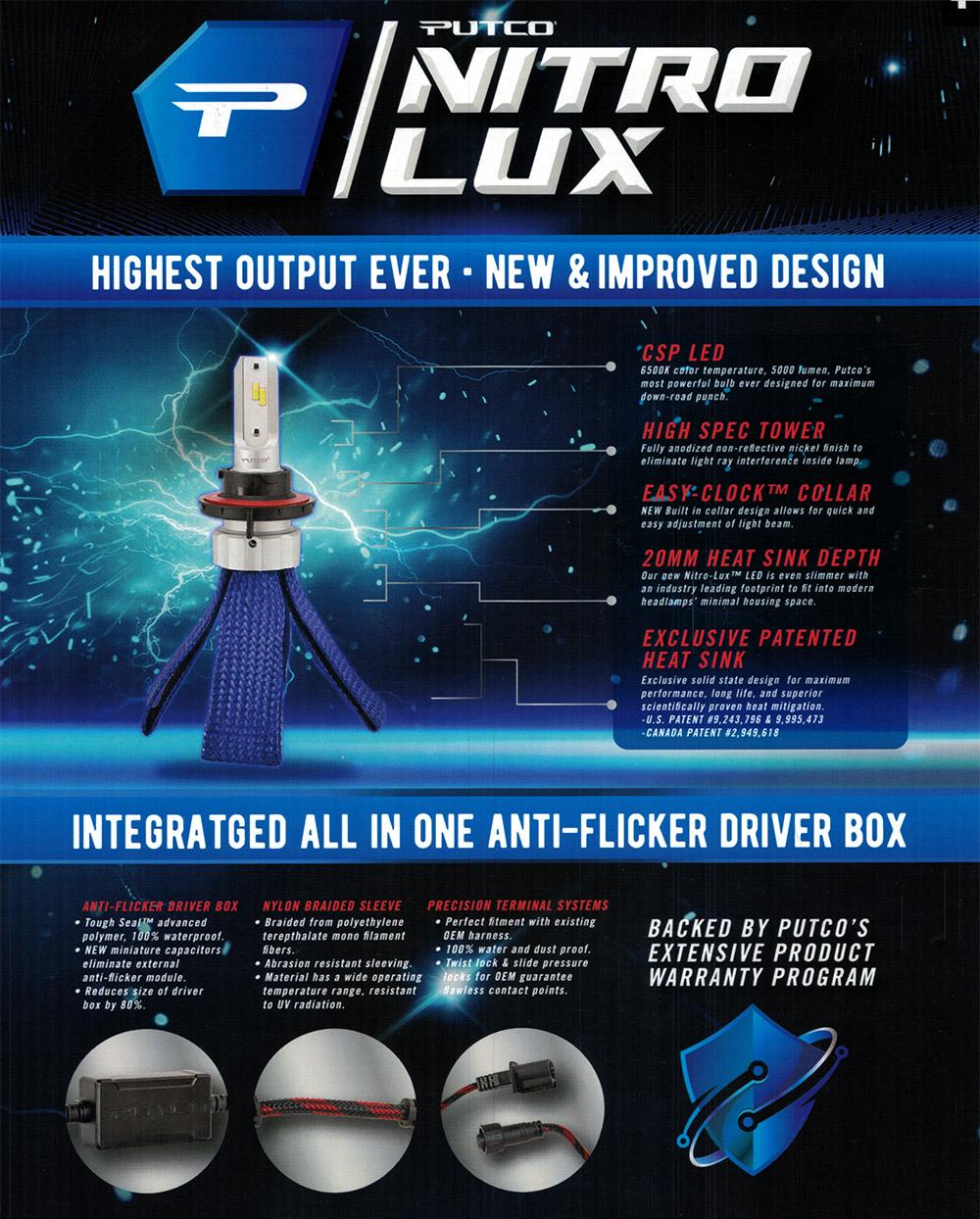 Putco Nitro-Lux LED Headlight Bulbs