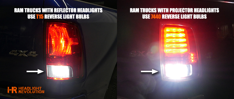 2009 2018 Dodge Ram Led Reverse Bulbs Upgrade