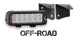 Off road lighting, grilles, and mounts
