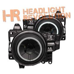 Anzo Toyota FJ Cruiser 07-13 Projector Headlights with Halo - Black Housing