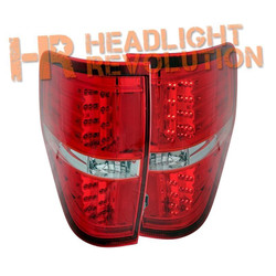 Anzo Ford F-150 and Raptor LED Tail Lights - Red Housing