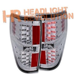 Anzo Ford F-150 and Raptor LED Tail Lights - Chrome Housing