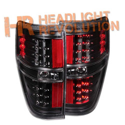 Anzo Ford F-150 and Raptor LED Tail Lights - Black Housing