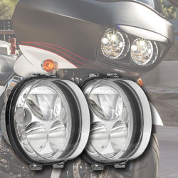 "Vision X TWO 5.75"" CHROME OVAL VORTEX LED HEADLIGHT W/ LOW-HIGH-HALO"