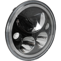 "Vision X SINGLE BLACK CHROME FACE 5.75"" ROUND VORTEX LED HEADLIGHT W/ LOW-HIGH-HALO"