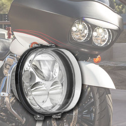 "Vision X SINGLE BLACK CHROME FACE 5.75"" OVAL VORTEX LED HEADLIGHT W/ LOW-HIGH-HALO"