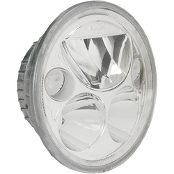 "Vision X SINGLE 5.75"" ROUND VORTEX LED HEADLIGHT W/ LOW-HIGH-HALO"