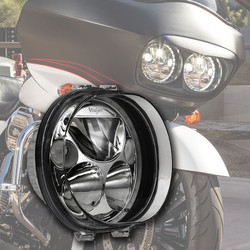 "Vision X SINGLE 5.75"" OVAL VORTEX LED HEADLIGHT W/ LOW-HIGH-HALO"