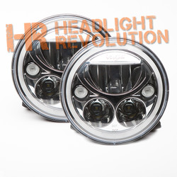 "Vision X Pair of 7"" Round Vortex LED Headlights - Chrome"