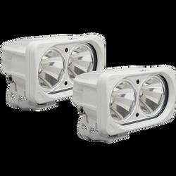 Vision X OPTIMUS SQUARE WHITE 2 10W LEDS 60 Degree FLOOD 2 LIGHT KIT