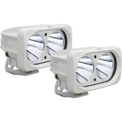Vision X OPTIMUS SQUARE WHITE 2 10W LEDS 10 Degree NARROW 2 LIGHT KIT