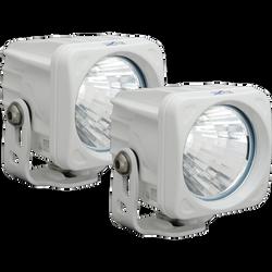 Vision X OPTIMUS SQUARE WHITE 1 10W LED 20 Degree MEDIUM 2 LIGHT KIT