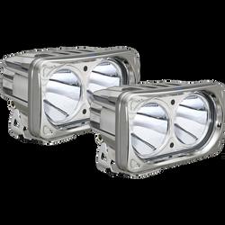 Vision X OPTIMUS SQUARE CHROME 2 10W LEDS 10 Degree NARROW 2 LIGHT KIT