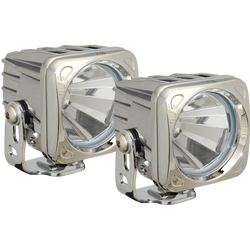 Vision X OPTIMUS SQUARE CHROME 1 10W LED 60 Degree FLOOD 2 LIGHT KIT