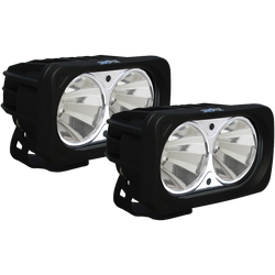 Vision X OPTIMUS SQUARE BLACK 2 10W LEDS 60 degree FLOOD 2 LIGHT KIT