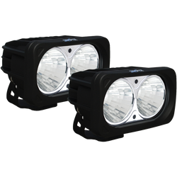 Vision X OPTIMUS SQUARE BLACK 2 10W LEDS 20 Degree MEDIUM 2 LIGHT KIT