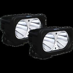 Vision X OPTIMUS SQUARE BLACK 2 10W LEDS 10 Degree NARROW 2 LIGHT KIT