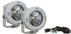 Vision X OPTIMUS ROUND WHITE 1 10W LED 60 Degree FLOOD 2 LIGHT KIT