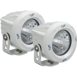 Vision X OPTIMUS ROUND WHITE 1 10W LED 20 Degree MEDIUM 2 LIGHT KIT