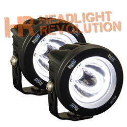 Vision X OPTIMUS ROUND HALO BLACK 1 10W LED EMARK APPROVED 15 degree NARROW 2 LIGHT KIT