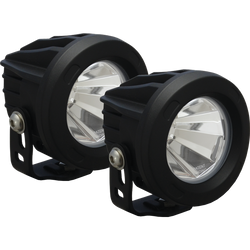 Vision X OPTIMUS ROUND BLACK 1 10W LED 60 FLOOD 2 LIGHT KIT