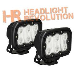 Vision X KIT OF 2 DURALUX WORK LIGHT 6 LED 10 DEGREE W/ HARNESS