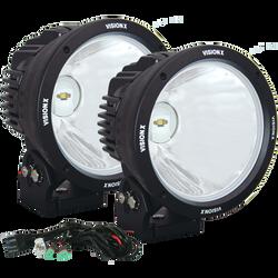 """Vision X 8.7"""" CANNON BLACK 1 90W LED 10 Degree NARROW LIGHT KIT"""