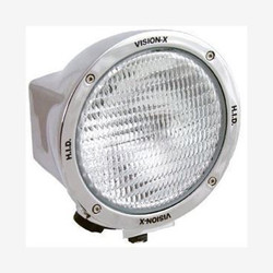 "Vision X 6.7"" ROUND CHROME 50 WATT HID FLOOD LAMP"