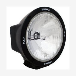 "Vision X 6.7"" ROUND BLACK 50 WATT HID EURO LAMP"