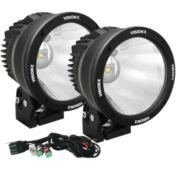 "Vision X 6.7"" CANNON BLACK 1 50W LED 10 Degree NARROW LIGHT KIT"