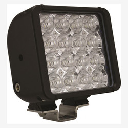"Vision X 6"" XMITTER DOUBLE BAR BLACK 16 3W LED'S FLOOD"
