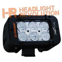 "Vision X 5"" XMITTER PRIME XTREME LED BAR BLACK 6 5W LED'S 40° BEAM"