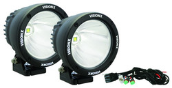 "Vision X 4.5"" CANNON BLACK 1 25W LED 10 DEGREE NARROW LIGHT KIT"