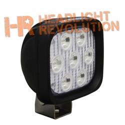 "Vision X 4"" SQUARE UTILITY MARKET XTREME BLACK 7 5W LED'S 10 degree NARROW"